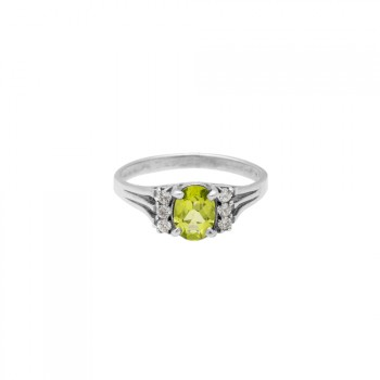 Anillo wedding con peridoto olivino