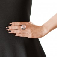 Sarah Kosta Jewels 950 silver ring with crystal amethyst and fretwork band – ANPLAM1194_d