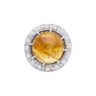 Sarah Kosta Joyas – Anillo en plata 950 con citrino rutilado y cristales ANPLCI1197_b