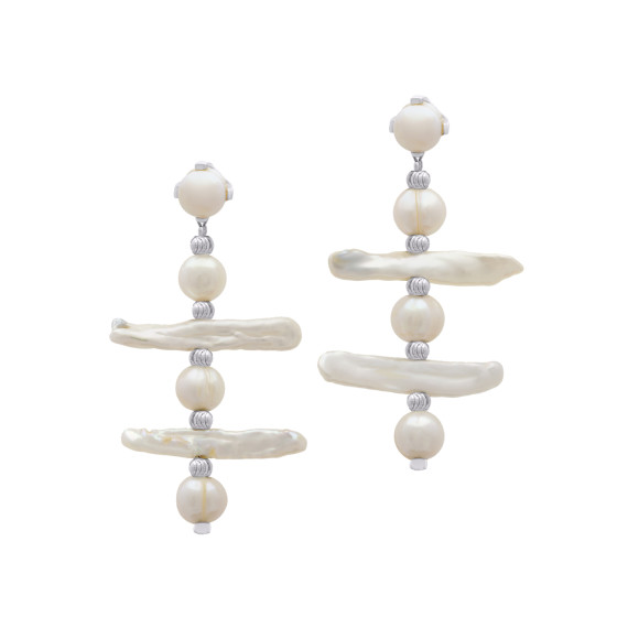 Sarah Kosta Joyas - Caravanas en plata 950 con perlas barrocas CAPLPE1086_a