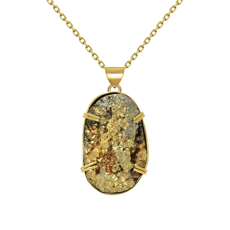 Colgante En Plata 950 Con Ba O De Oro Amarillo 18 Kt Y