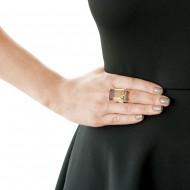 Sarah Kosta Joyas – anillo en plata 950 con cuarzo fumé rectangular ANPLCF1070_d