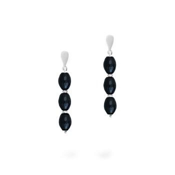 BLUE-CAPLAG1143-Caravanas-realizadas-en-plata-950-con-ágats-negras-facetadas