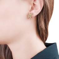 Sarah Kosta 18K gold earrings with olivine peridots – CAPLPO1120