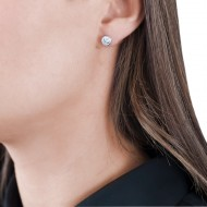 Sarah Kosta 950 silver earrings with crystals – CAPLCR1151