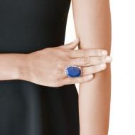 Sarah Kosta 950 silver ring with afghan lapis lazuli – ANPLLA1167