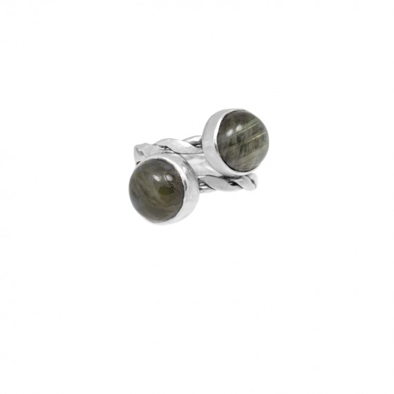 Sarah Kosta anillo en plata 950 con labradoritas - ANPLLA1085_a