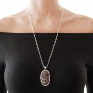 Sarah Kosta Joyas – Colgante con ágata dendrita engarzada en plata 950 COPLAG1247_c