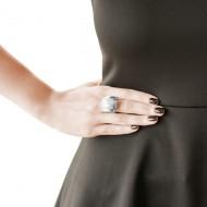 950 silver crystal stars ring