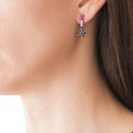 Sarah Kosta Joyas – Caravanas en oro blanco 18kt con rubíes, cristales y zafiros CAORZA1028_d