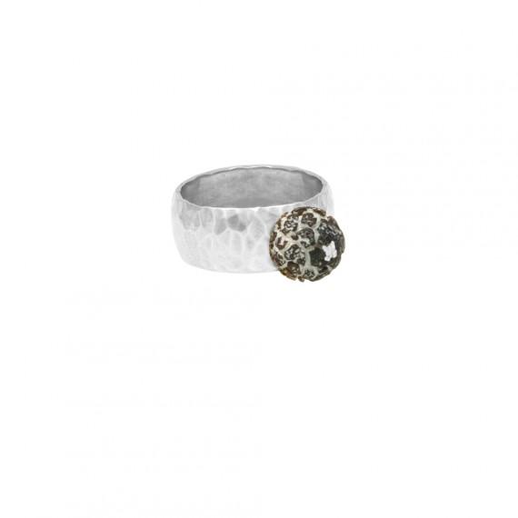 Sarah Kosta anillo en plata 950 con calcedonia - ANPLCA1119