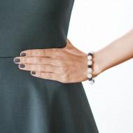 Sarah Kosta 950 silver bracelet with white quartz and black agates – PUPLCB1083_d