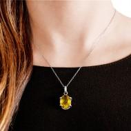 Sarah Kosta 950 silver pendant with citrine -COPLCI1178