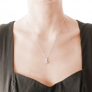Sarah Kosta 950 silver pendant with crystal – COPLCR1262_c