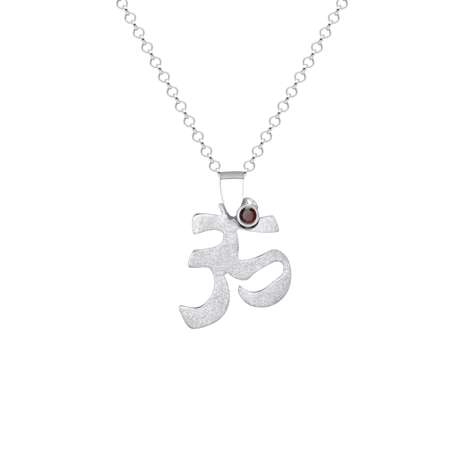 950 silver om pendant with blazing red topaz sarah kosta aloadofball Image collections