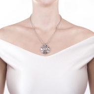Sarah Kosta Joyas – Colgante en plata 950 con amatista blanca COPLAB1201