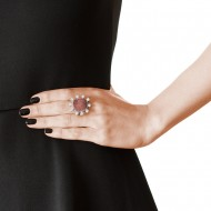 Sarah Kosta Jewels – 950 silver ring with high gloss druzy agate and crystals ANPLAB1326_d