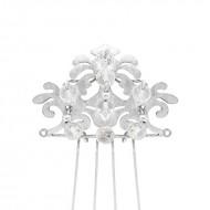 Sarah Kosta 950 silver wedding comb with crystal quartz – TOPLCC1008_c