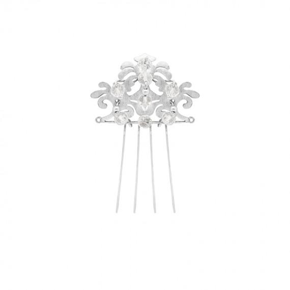 Sarah Kosta peineta calada en plata 950 con cuarzos cristal facetados - TOPLCC1008_a