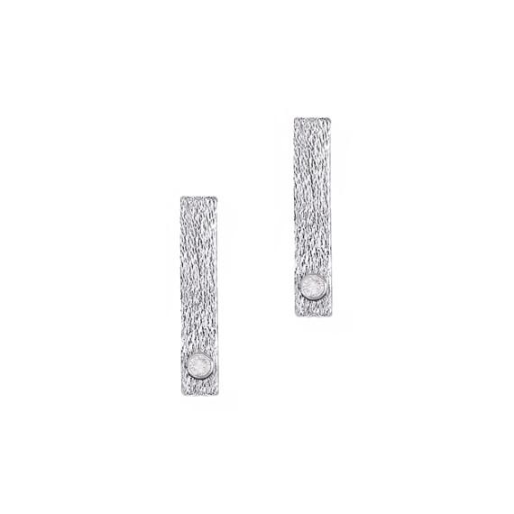 Sarah Kosta Joyas - Caravanas barra en plata 950 con cristal CAPLCR1278_a