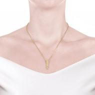 Sarah Kosta Joyas – Colgante en plata 950 con baño de oro amarillo 18 kt y cristal COPLOA1285
