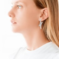 Sarah Kosta 950 silver earrings with crystals – CAPLCR1279