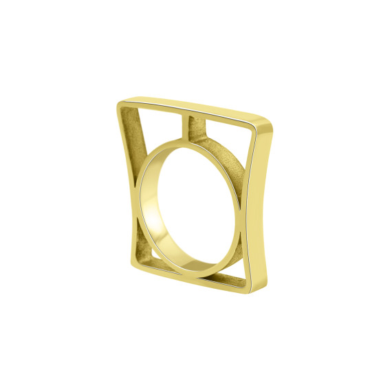 Sarah Kosta Jewels - Architectonic 18K yellow gold plated 950 silver ring ANPLOA1372_a