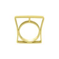 Sarah Kosta Jewels – Architectonic 18K yellow gold plated 950 silver ring ANPLOA1372_b