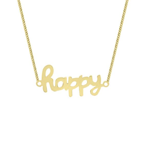 Sarah Kosta Joyas - Collar Happy en plata 950 con baño de oro amarillo 18 kt COPLAU1289_a