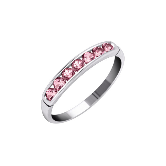 Sarah Kosta Joyas - Anillo en plata 950 con topacios rosados ANPLTO1283(2)_a
