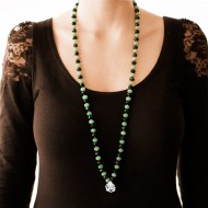Sarah Kosta 950 silver green quartz and agate necklace – COPLCV1301