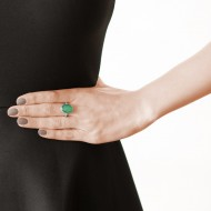 Sarah Kosta 950 silver ring with green agate – ANPLAG1401_d