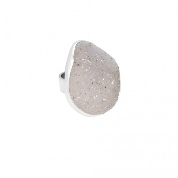 Sarah Kosta 950 silver ring with high gloss druzy agate - ANPLAB1262 (4)_a