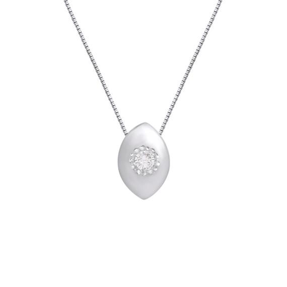Sarah Kosta Joyas - Colgante con almendra en plata 950 y cristal COPLCR1315_a