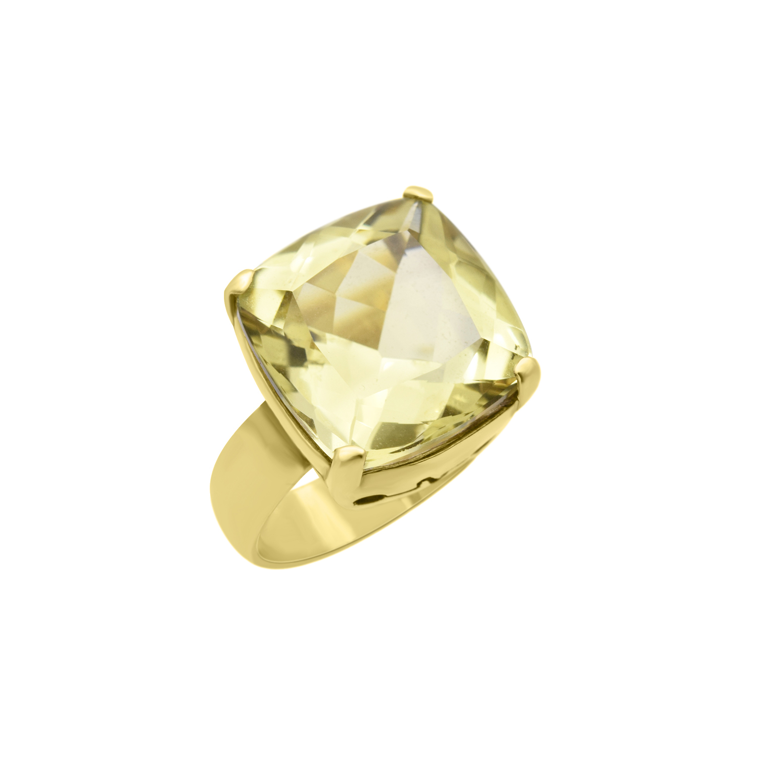 18K yellow gold plated green gold topaz ring Sarah Kosta
