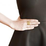 Sarah Kosta 18K yellow gold plated 950 silver fretwork ring – ANPLOA1431_d