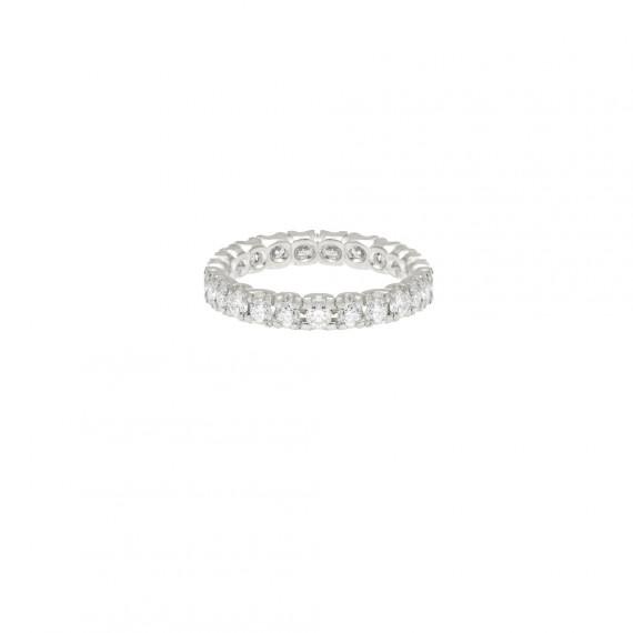 Sarah Kosta anillo en oro blanco con 23 brillantes de 5 pt - ANAUBR1435 (3900)