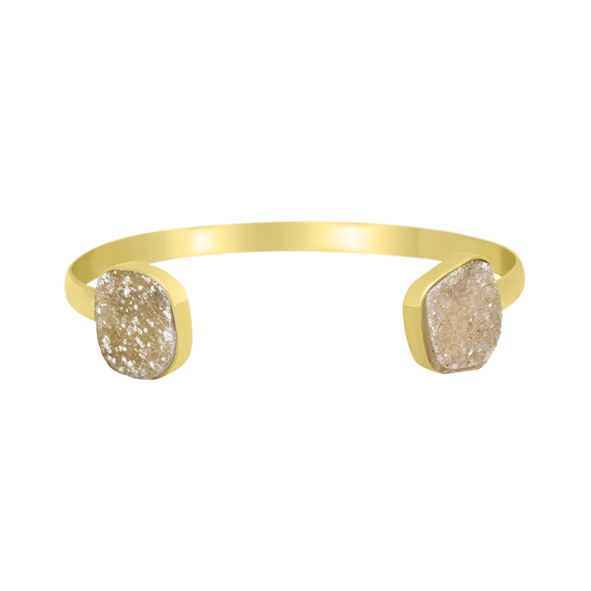 deb86fe661d9 18K yellow gold plated adjustable bracelet with high gloss druzy agate -  Sarah Kosta