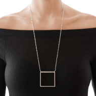 Sarah Kosta Jewels – 950 silver square necklace COPLPL1354_c