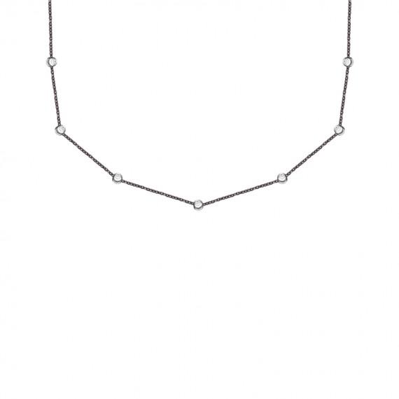 Sarah Kosta cadena en plata 925 con baño de brunito y perlas en plata 925 - COPLBR1369_a