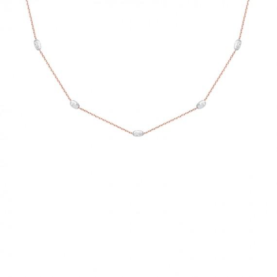Sarah Kosta cadena en plata 925 con baño de oro rosa 18 kt y detalles en plata 925 - COPLOR1368_a