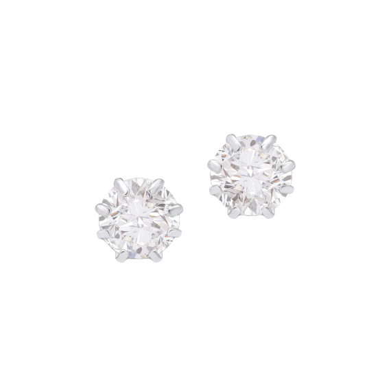 Sarah Kosta Joyas - Caravanas con cristales talla brillante engarzados en plata 950 CAPLCR1388_a