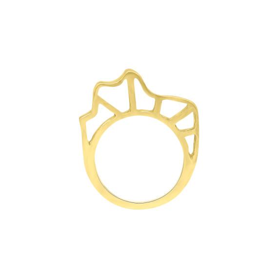 Sarah Kosta Jewels - 18K yellow gold plated 950 silver organic ring ANPLOA1462_d