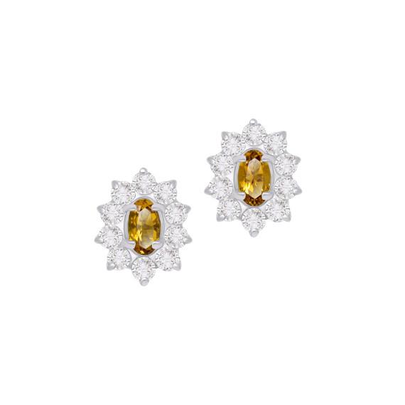 Sarah Kosta Joyas - Caravanas en plata 950 con citrinos y cristales CAPLCI1390_a