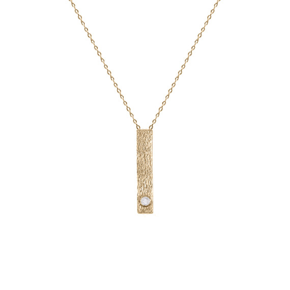 Sarah Kosta Joyas - Colgante en plata 950 con baño de oro rosa 18 kt y cristal COPLOR1289_a