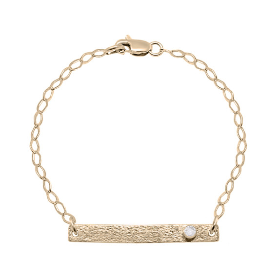 Sarah Kosta Joyas - Pulsera en plata 950 con baño de oro rosa 18 kt y cristal PUPLOR1193_a