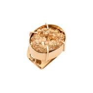 Sarah Kosta Joyas – Anillo en plata 950 con baño de oro rosa 18 kt y pirita ANORPI1481_b