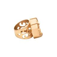 Sarah Kosta Joyas – Anillo en plata 950 con baño de oro rosa 18 kt y pirita ANORPI1481_d