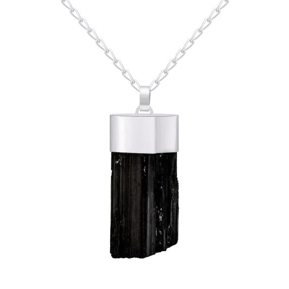 Sarah Kosta Joyas - Colgante en plata 950 con turmalina negra en bruto COPLTU1397_c