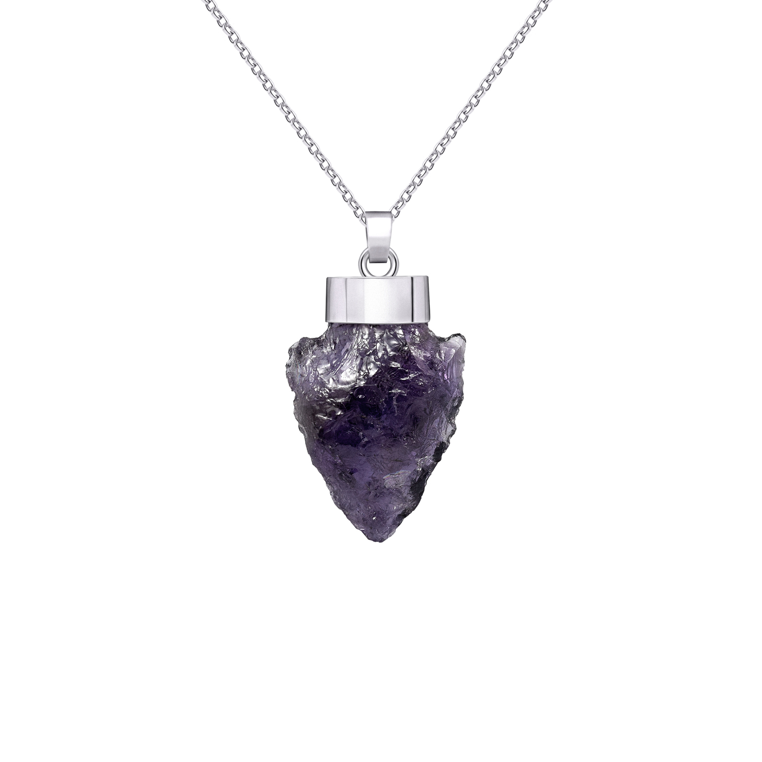Raw amethyst pendant necklace in 950 silver sarah kosta aloadofball Choice Image